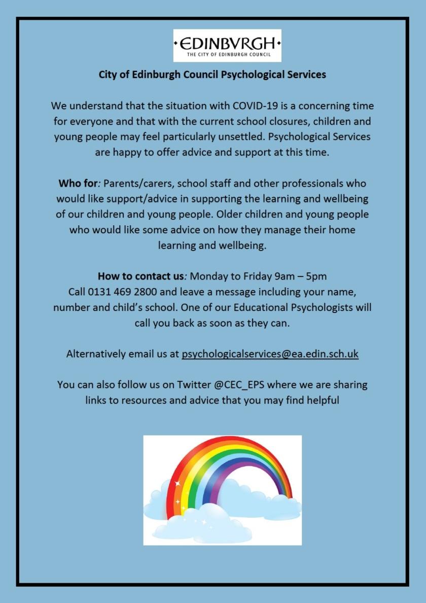 Psychological Services contact details